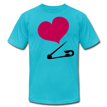HEART family baby safety pin  T-Shirts