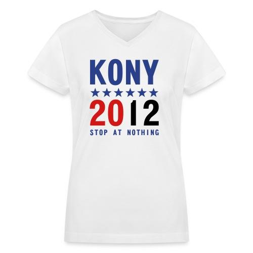 KONY 2012 Women's  V-NECK T-SHIRT - Women's V-Neck T-Shirt