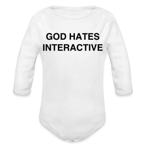 GOD HATES ONE PIECE BABIES - Long Sleeve Baby Bodysuit
