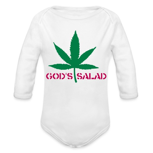 baby weed lovers - Organic Long Sleeve Baby Bodysuit