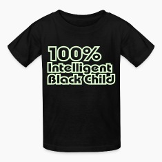 100% Intelligent Black Child / Glow in the Dark Kids' Shirts