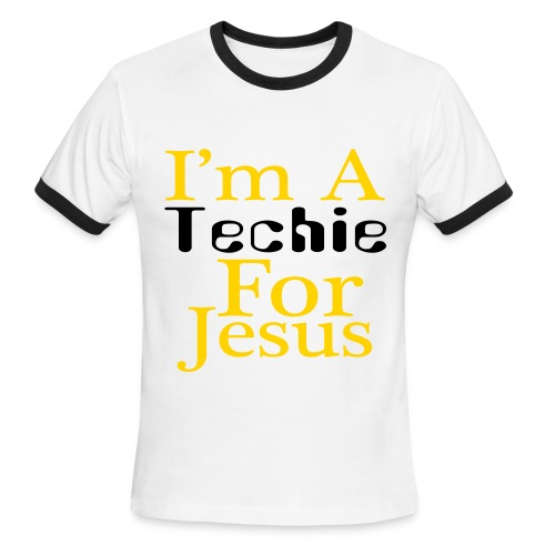 I'm a Techie For Jesus White & Black Ringer T - Men's Ringer T-Shirt