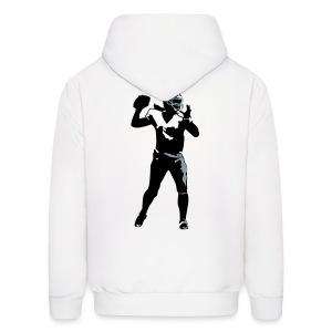 Hoodie Sweatshirt - QB, Chicago Force with flaming ball - Men's Hoodie