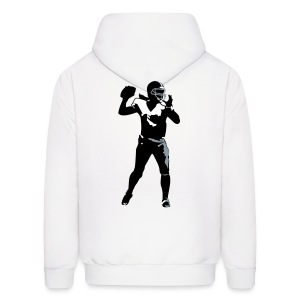 Hoodie Sweatshirt - QB, Chicago Force with flaming ball - Men's Hoodie