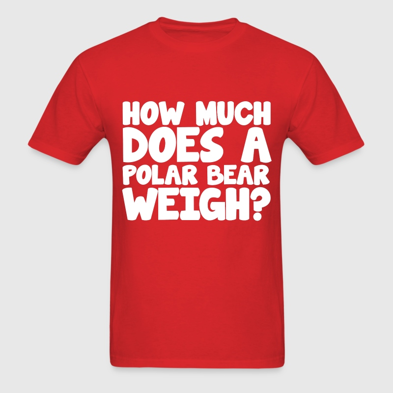 how much does a polar bear weigh icebreaker party t shirt