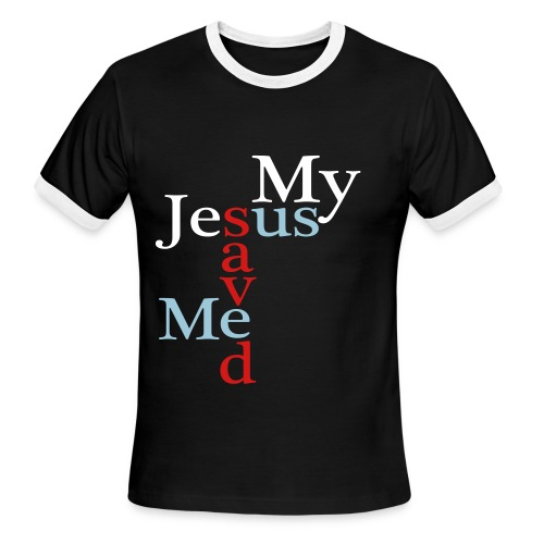 My Jesus Saved Me - Us Black Ringer T - Men's Ringer T-Shirt
