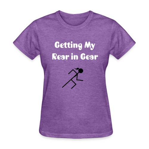 Rear in Gear Girl Runner - Women's T-Shirt