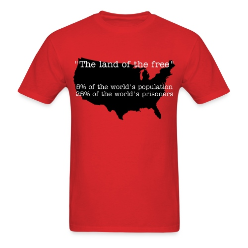 land of the free? - Men's T-Shirt