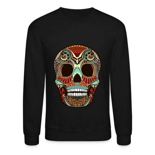 Aztec Skull/ Black/ Men's Crewneck (Unisex) - Crewneck Sweatshirt