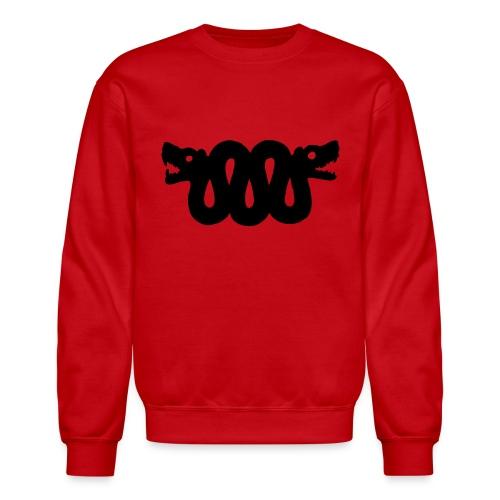 Black Double Snake/ Red/ Men's Crewneck (Unisex) - Crewneck Sweatshirt