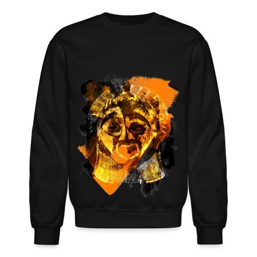 Aztec Painting/ Black/ Men's Crewneck (Unisex) - Crewneck Sweatshirt