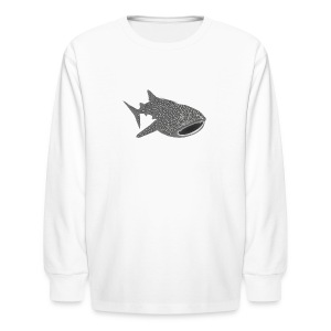 animal t-shirt whale shark fish dive diver diving endangered species - Kids' Long Sleeve T-Shirt