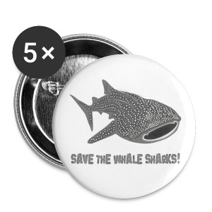 animal t-shirt whale shark fish dive diver diving endangered species - Large Buttons