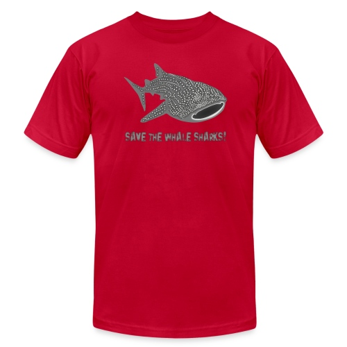 animal t-shirt whale shark fish dive diver diving endangered species - Men's T-Shirt by American Apparel