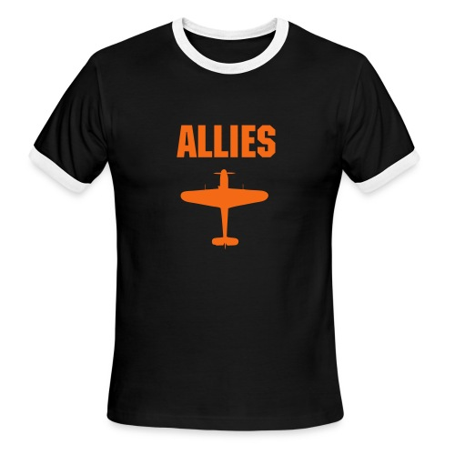 Allies Fighter Ringer Dark Tee - Men's Ringer T-Shirt
