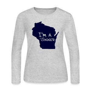 I'm a 'Sinner - Women's Long Sleeve Jersey T-Shirt