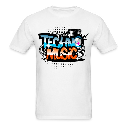 Techno Music - Men's T-Shirt