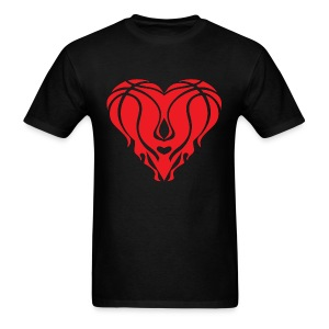Heat Heart Shirt - Black  - Men's T-Shirt