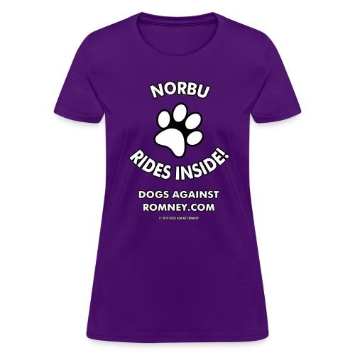 Dogs Against Romney Custom Norbu Tee - Women's T-Shirt