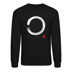 Men's White Enso sweatshirt - Crewneck Sweatshirt