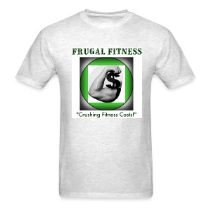 Frugal Fitness Graphic T-shirt Graphics FRONT & BACK! - Men's T-Shirt
