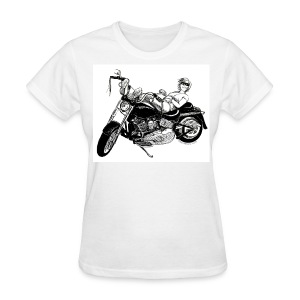 Fat Boy Drawing on White - Women's T-Shirt