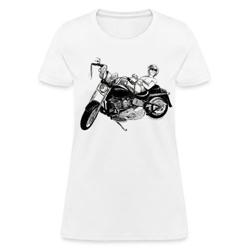 Fat Boy Drawing on White - Women's T-Shirt