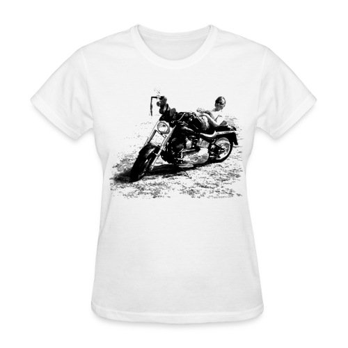 Fat Boy Photo on White - Women's T-Shirt