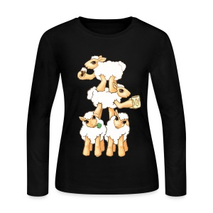 Sheeps celebrating Patrick's Day - Women's Long Sleeve Jersey T-Shirt