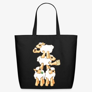 Sheeps celebrating Patrick's Day - Eco-Friendly Cotton Tote