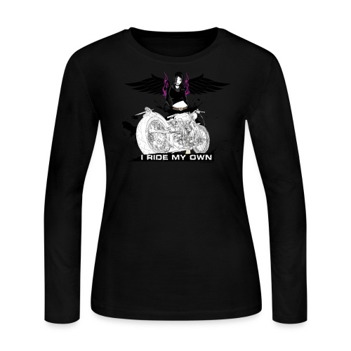 I Ride My Own on Pink Long Sleeve - Women's Long Sleeve Jersey T-Shirt