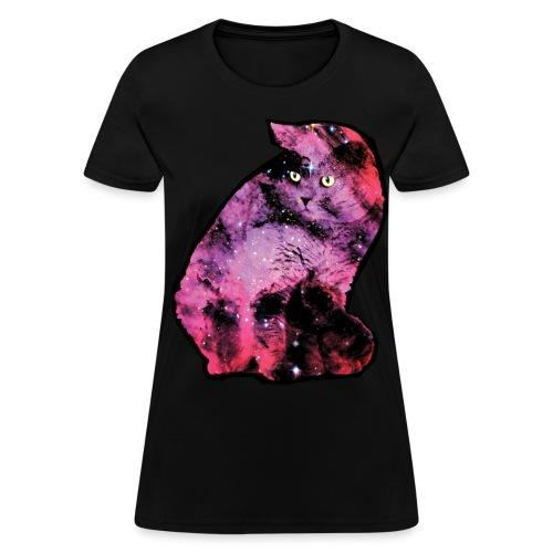 Pinky Galaxy Cat Shirt (Womens) - Women's T-Shirt
