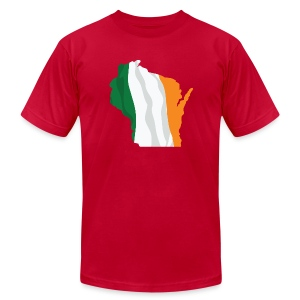 Wisconsin Irish Flag - Men's T-Shirt by American Apparel