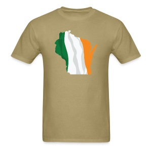 Wisconsin Irish Flag - Men's T-Shirt