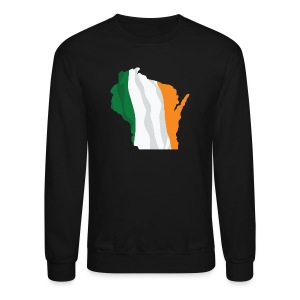 Wisconsin Irish Flag - Crewneck Sweatshirt