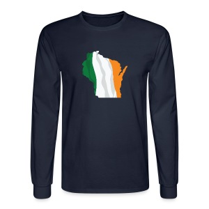 Wisconsin Irish Flag - Men's Long Sleeve T-Shirt