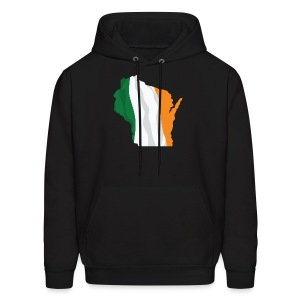 Wisconsin Irish Flag - Men's Hoodie