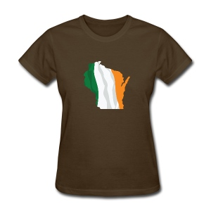 Wisconsin Irish Flag - Women's T-Shirt