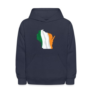 Wisconsin Irish Flag - Kids' Hoodie