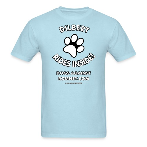 Official Dogs Against Romney Dilbert Tee - Men's T-Shirt