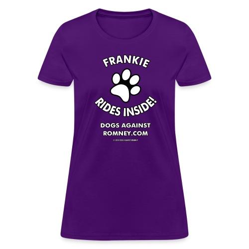 Official Dogs Against Romney Frankie Women's Tee - Women's T-Shirt