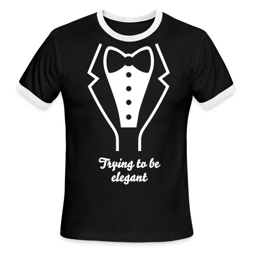 Being elegant. - Men's Ringer T-Shirt