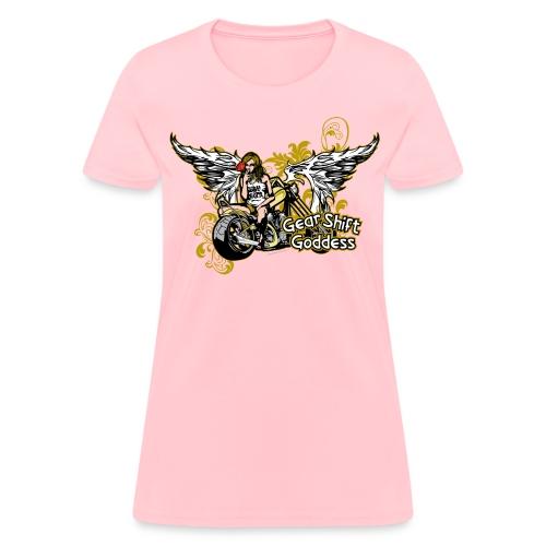 Gear Shift Goddess on Brown - Women's T-Shirt