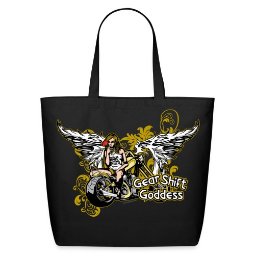 Gear Shift Goddess on Tote - Eco-Friendly Cotton Tote