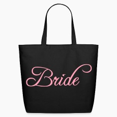Fun Pink Bride Text Elegant Word Graphic Design for Bachelor Parties, Hen Party, Stag and Does, Bridal Party and Wedding Showers TShirts Bags