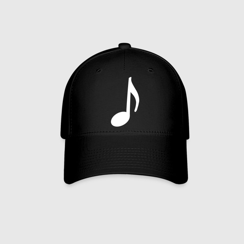 Music Note Hat (White Note) - Baseball Cap