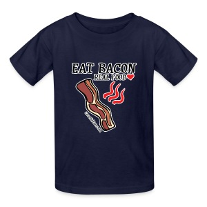 Eat Bacon: Real Food [KIDS Tee] - Kids' T-Shirt