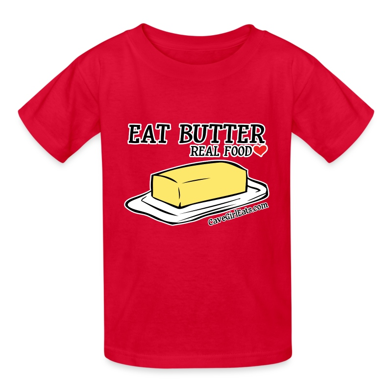 Eat Butter: Real Food Love [KIDS Tee] - Kids' T-Shirt