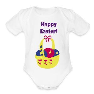 Happy Easter - Short Sleeve Baby Bodysuit