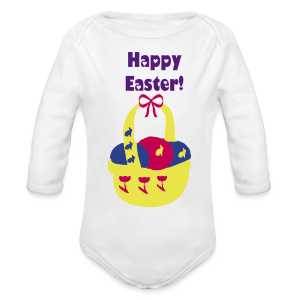 Happy Easter - Long Sleeve Baby Bodysuit